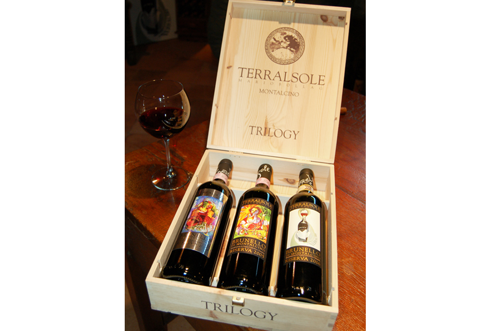 A Trilogy Fundraiser for HAITI.  BRUNELLO di MONTALCINO RISERVA Collection